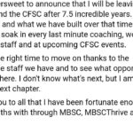 It is bittersweet to announce that I am leaving MBSChellip